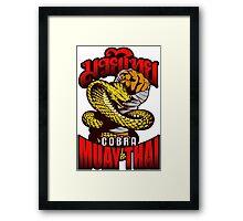 Cobra Muay Thai Thailand Animal Totem Framed Print