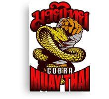 Cobra Muay Thai Thailand Animal Totem Canvas Print