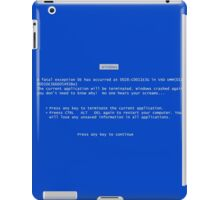 Blue screen of death iPad Case/Skin