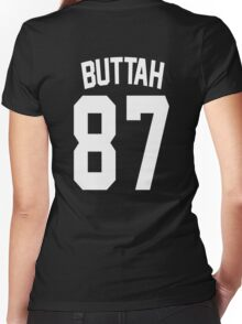 Buttah: Jersey Style Women's Fitted V-Neck T-Shirt