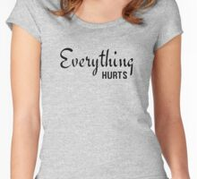 Cool Funny Gym Workout Fitness Everything Hurts Text  Women's Fitted Scoop T-Shirt