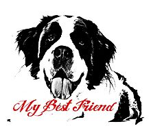 My Dog is Best Friend Photographic Print