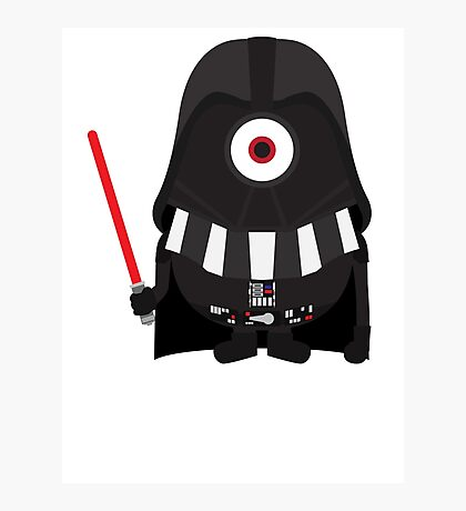 Vader Minion Photographic Print