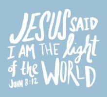 John 8: 12 x Mustard Baby Tee