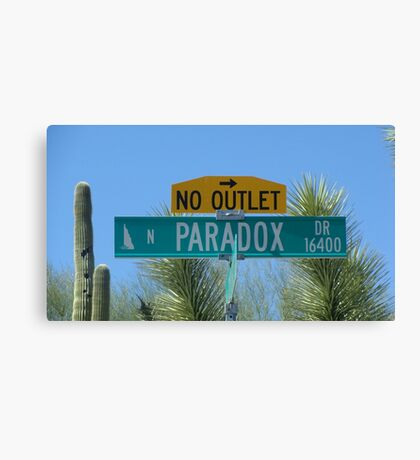 Paradox Drive - No Outlet Canvas Print