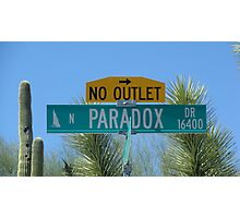 Paradox Drive - No Outlet Photographic Print