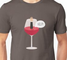 Man drowned in wine Unisex T-Shirt