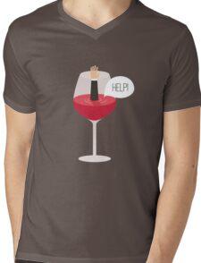 Man drowned in wine Mens V-Neck T-Shirt