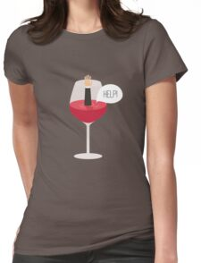 Man drowned in wine Womens Fitted T-Shirt