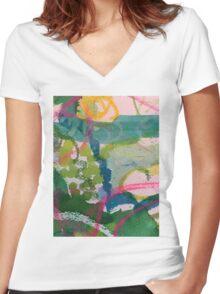 Secret Springtime Maps #1 Women's Fitted V-Neck T-Shirt