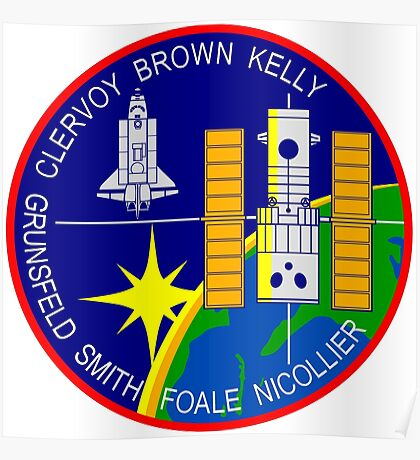 STS-103 Space Shuttle Discovery Mission Patch Poster