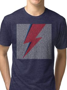 Flash Lyrics - David Bowie Lyric Tri-blend T-Shirt