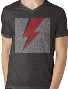 Flash Lyrics - David Bowie Lyric Mens V-Neck T-Shirt