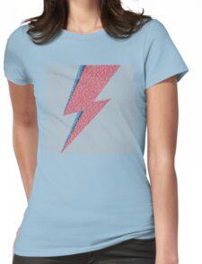 Flash Lyrics - David Bowie Lyric Womens Fitted T-Shirt