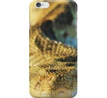 Puff Adder - African Snake Background - Dangerous Beauty iPhone Case/Skin