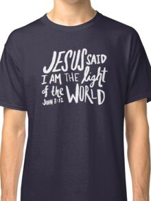 John 8: 12 x Navy Classic T-Shirt