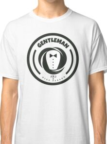 Gentleman and a Nice Person Funny Tuxedo Vintage Logo  Classic T-Shirt