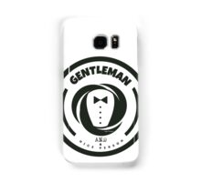 Gentleman and a Nice Person Funny Tuxedo Vintage Logo  Samsung Galaxy Case/Skin