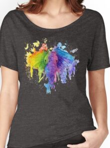 "Rainbow ""Father"" Elephant Women's Relaxed Fit T-Shirt"