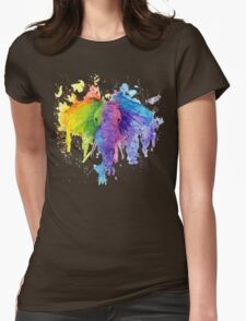 """Rainbow """"Father"""" Elephant Womens Fitted T-Shirt"""