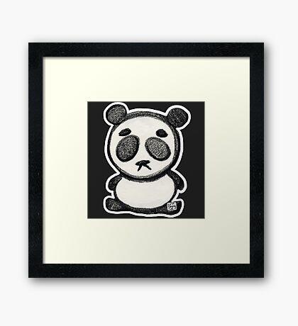 Little Sad Panda Framed Print