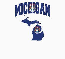 Michigan Flag Michigan Map Unisex T-Shirt