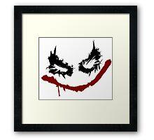 Joker inspired graffiti tag Framed Print