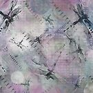 Dragonflies With Touch of Purple by Betsy  Seeton