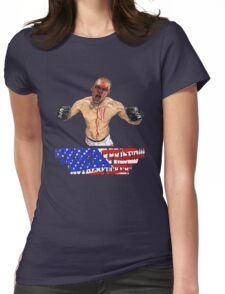 """I'M NOT SURPRISED Nate Diaz"" Womens Fitted T-Shirt"