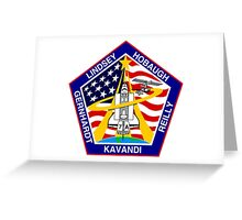 STS-104 Space Shuttle Atlantis Mission Logo Greeting Card