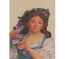"""Young Girl""  from painting by Elisabeth Vigee LeBrun Photographic Print"