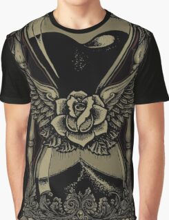 Neotraditional Vintage Hourglass Variant Graphic T-Shirt