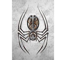 Rough Steel Steampunk Spider Photographic Print