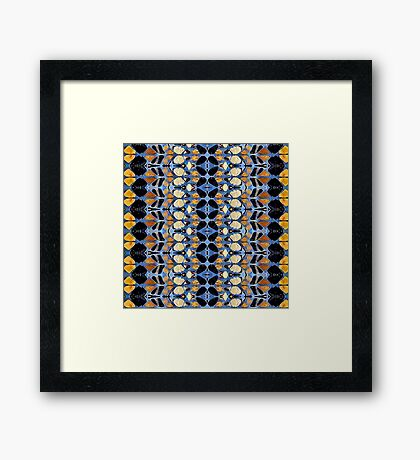 blues and browns Framed Print