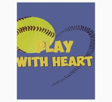 SOFTBALL play with heart Kids Tee