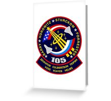 STS-105 Space Shuttle Discovery Mission Patch Greeting Card