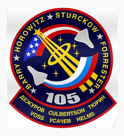 STS-105 Space Shuttle Discovery Mission Patch Poster