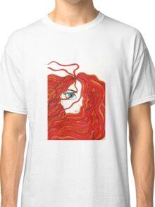 Fiery Red Headed Girl Classic T-Shirt