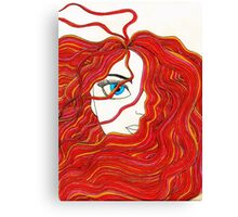 Fiery Red Headed Girl Canvas Print