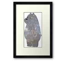 Ice Bear is Space Bear Framed Print