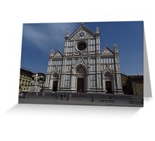 Santa Croce. Neo-Gothic Facade Greeting Card