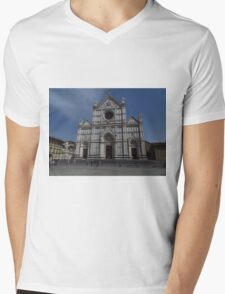 Santa Croce. Neo-Gothic Facade Mens V-Neck T-Shirt