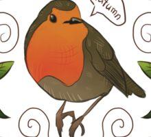 Autumn Robin Pattern Sticker