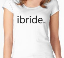 i bride cool and funny way to say Im getting married  Women's Fitted Scoop T-Shirt