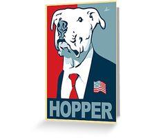 Feel The Hopper (Red White and Hopper) Greeting Card