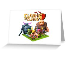 CLASH OF CLANS COC GARDEN Greeting Card