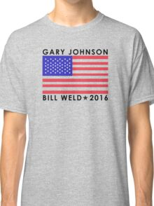 Gary Johnson - Bill Weld 2016 Patriotic Flag Classic T-Shirt