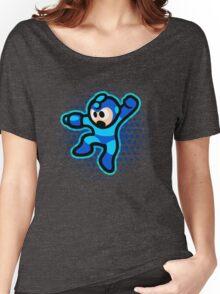 Mega Man Jump! Ultra HQ Modern Print Women's Relaxed Fit T-Shirt
