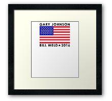 Gary Johnson - Bill Weld 2016 Patriotic Flag Framed Print