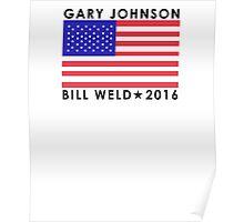 Gary Johnson - Bill Weld 2016 Patriotic Flag Poster